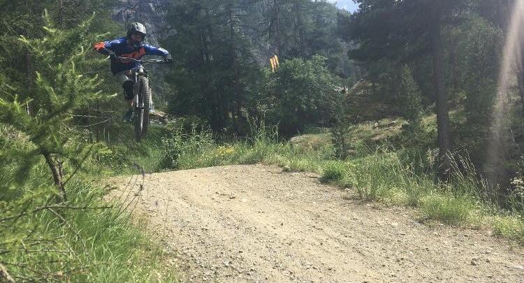 Chef Mark Ruiz Kissling biking in Zermatt | Brasserie Uno Zermatt